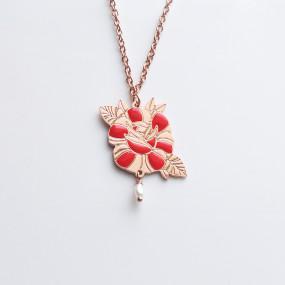 Ciondolo Rosa Rossa